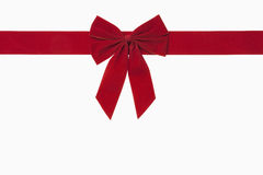 Red Christmas Bow. Includes clipping path Stock Photos