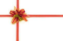 Red christmas bow stock images