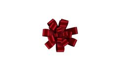 Red christmas bow for gift Stock Photos