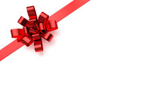 Red christmas bow Royalty Free Stock Images