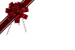 Red christmas bow and ribbon Stock Image