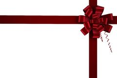 Red christmas bow and ribbon Stock Photography