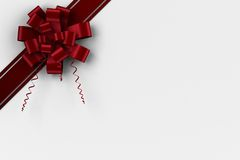 Red christmas bow and ribbon Royalty Free Stock Photography