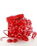 Red Christmas Box Stock Images