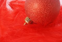 Red christmas bulb Royalty Free Stock Photos