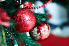 Red Christmas Bulbs Royalty Free Stock Photography