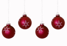 Red Christmas Bulbs Stock Image