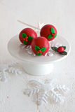 Red Christmas Cake Pops Royalty Free Stock Photos