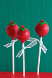 Red Christmas Cake Pops Stock Image