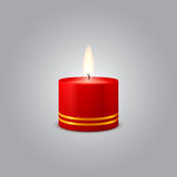 Red Christmas Candle background illustration Royalty Free Stock Image