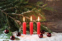 Red Christmas candle Royalty Free Stock Images