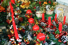 Red christmas candles Royalty Free Stock Image