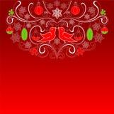 Red Christmas Card Stock Image