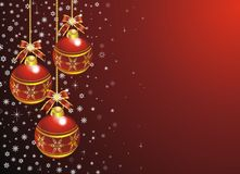 Red Christmas Card. A Red and Shining Christmas Background Stock Photo