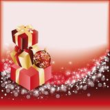 Red christmas card.  Royalty Free Stock Image