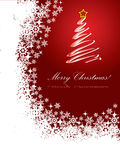 Red Christmas card 2 Royalty Free Stock Image