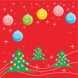 Red christmas card Stock Images