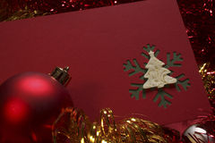 Red christmas card Stock Photography