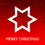 Red christmas card. With snowflakes illustration Stock Image