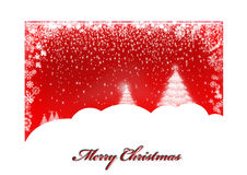 Red christmas card Royalty Free Stock Images