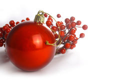 Red Christmas card Royalty Free Stock Photography