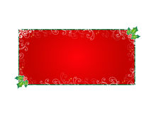 Red Christmas card Stock Photos