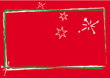 Red christmas card Royalty Free Stock Photos