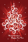 Red christmas card background Royalty Free Stock Photo