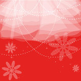 Red christmas card. Christmas background with snow and lights Royalty Free Stock Images