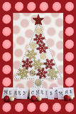 Red Christmas Card Stock Photo