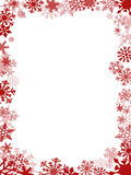 Red Christmas card frame Royalty Free Stock Images