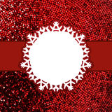 Red christmas card with glitter light. EPS 8 Royalty Free Stock Photos