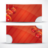 Red Christmas card with place for your text. Red Christmas card with Christmas balls and place for your text Royalty Free Stock Photos