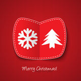 Red Christmas card stock illustration