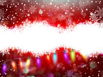 Red christmas card with snowflakes. EPS 10. Red christmas card with snowflakes background. EPS 10 vector file included Royalty Free Stock Images