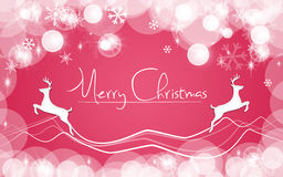 Red Christmas Card. Snows background Royalty Free Stock Image