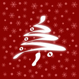 Red Christmas Card (vector) Royalty Free Stock Photos