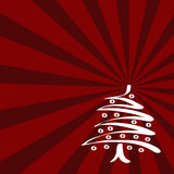 Red Christmas Card (vector). Red Card With Christmas Tree. Vector Stock Photography