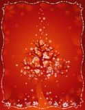 Red christmas card, vector Stock Image