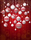 Red christmas card, vector Royalty Free Stock Photo