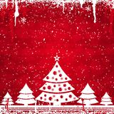 Red christmas card, vector Stock Photography