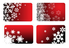 Red christmas cards Royalty Free Stock Photo