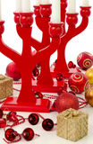 Red Christmas composition Royalty Free Stock Image