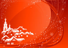 Red Christmas country Royalty Free Stock Images