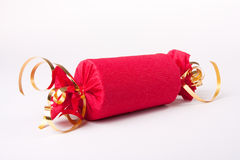 Red Christmas Cracker Royalty Free Stock Photography