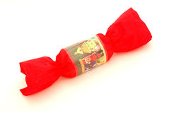 Red Christmas cracker stock photography