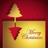 Red Christmas creative trendy card. Christmas creative trendy card - Vector illustration paper art Royalty Free Stock Photo