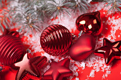 Red christmas decor Stock Photos