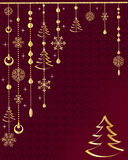 Red Christmas decoration. Royalty Free Stock Photos