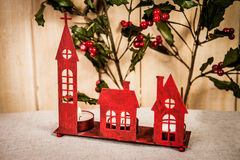 Red christmas decoration Stock Photos